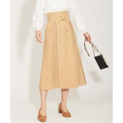スカート トレンチプリーツスカート