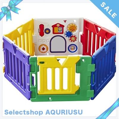 日本育児 ベビーサークル ミュージカルキッズランド DX 6ヶ月3歳半対象 おもちゃパネル付のベビーサークル