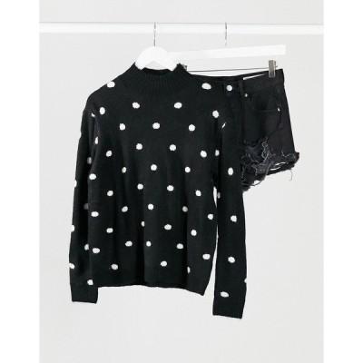 ブレーブソウル レディース ニット&セーター アウター Brave Soul dot sweater Black