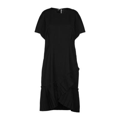 イザベル マラン ISABEL MARANT ミニワンピース&ドレス ブラック 36 麻 57% / レーヨン 30% / コットン 11% / ポ