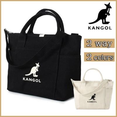 KANGOL カンゴール トートバッグ ショルダー バッグ ショルダーバッグ 2way 斜め掛け スナップ サイドポケット キャンバス