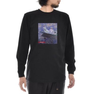 モネ Tシャツ 舟遊び ライフ イズ アート 長袖 ロングスリーブ ロンT メンズ レディース クロード・モネ 大きいサイズ ブラック 黒 アート 絵画 名画 ブランド