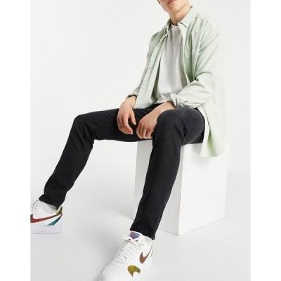 エイソス メンズ デニムパンツ ボトムス ASOS DESIGN slim jeans in washed black Washed black