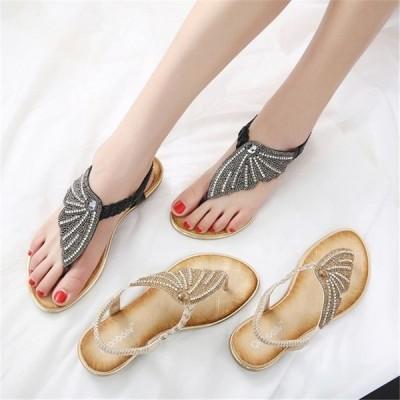 サンダル春夏履きやすい疲れにくい大きいサイズ女子女性用20代30代40代スタイリッシュ靴ファッションきれいめローマサンダル