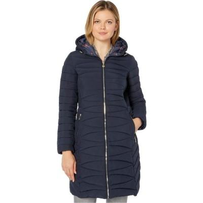 ベルナルド ファッションズ Bernardo Fashions レディース ジャケット アウター EcoPlume Soft Touch Walker Coat /w Printed Liner Deep Ocean Blue