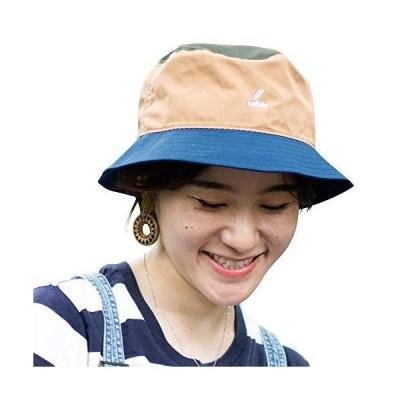 nakota ナコタ スタンダードバケットハット 撥水 ベージュ×カーキ/フリーサイズ サファリハット ハット 帽子 大きいサイズ メンズ