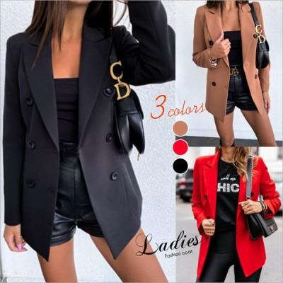 スーツ テーラードコート ブレザー レディース コート ジャケット アウター レディーストップス 通勤 欧米 スリム セール 送料無料