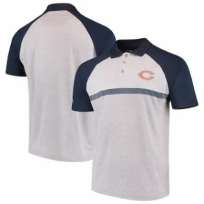 Antigua アンティグア スポーツ用品  Antigua Chicago Bears Gray/Navy Momentum Polo