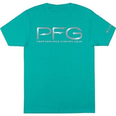 コロンビア Tシャツ トップス メンズ Columbia Men's PFG Hook Logo Shine T-Shirt BrightAqua
