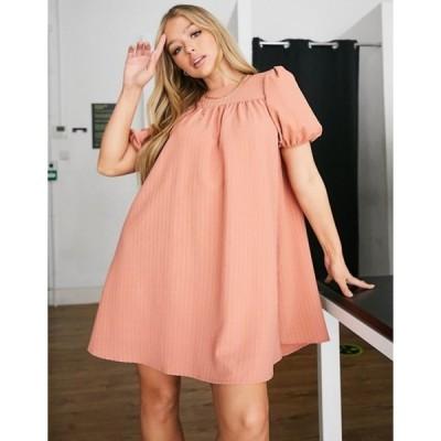 ユニークトゥエンティワン レディース ワンピース トップス Unique21 babydoll smock dress