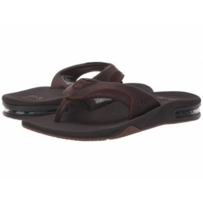 Reef リーフ メンズ 男性用 シューズ 靴 サンダル Fanning Leather Dark Brown【送料無料】