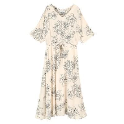 アートフラワーロングワンピース ティティベイト titivate (ワンピース)Dress