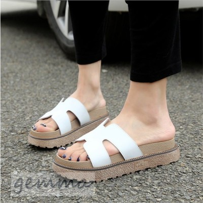 スリッパ ぺたんこサンダル 厚底サンダル レディース 大きいサイズ 歩きやすい ビーチサンダル ビーサン 厚底靴 韓国ファッション 夏sandal