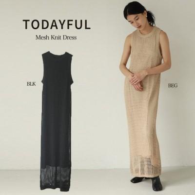 TODAYFUL 21春予約 トゥデイフル ドレス (3月下旬入荷予約) Mesh Knit Dress メッシュニットドレス 12110303