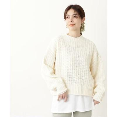 N.Natural Beauty Basic / エヌ ナチュラルビューティーベーシック バスケット編みボトルネックニット