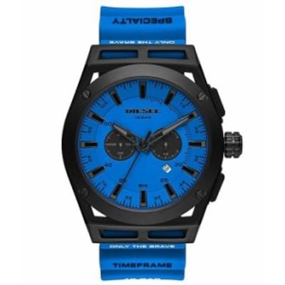 ディーゼル メンズ 腕時計 アクセサリー Timeframe Chronograph Blue Silicone Watch Blue