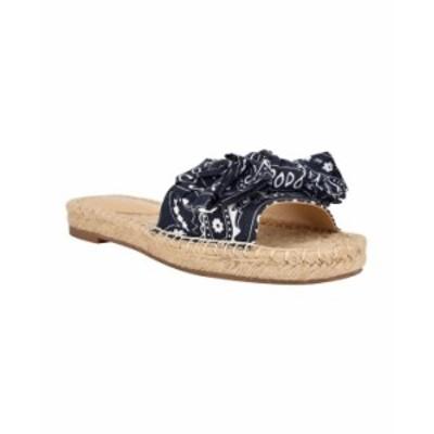 ナインウェスト レディース サンダル シューズ Women's Bow Slide Sandals Navy Bandana Print