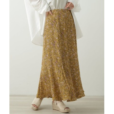 Ray Cassin / 花柄プリーツマーメードスカート WOMEN スカート > スカート