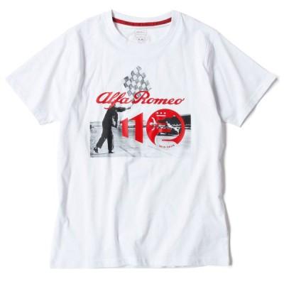 (アルファ ロメオ/Alfa Romeo)アルファロメオ アニバーサリー レース Tシャツ スペシャル エディション 110周年コレクション オフィシャルTシャツ