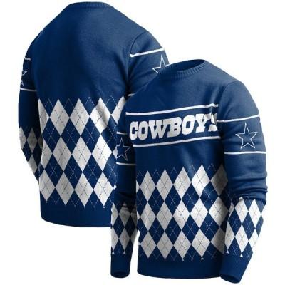 """メンズ セーター """"Dallas Cowboys"""" Retro Sweater - Navy"""