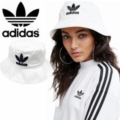 アディダス オリジナルス バケットハット 帽子 レディース メンズ BK7350 ホワイト ワンサイズ ADIDAS ORIGINALS BUCKET HAT AC