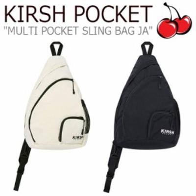キルシーポケット ボディバッグ KIRSH POCKET MULTI POCKET SLING BAG JA マルチ ポケット スリングバッグ BLACK CREAM JAKP05 バッグ