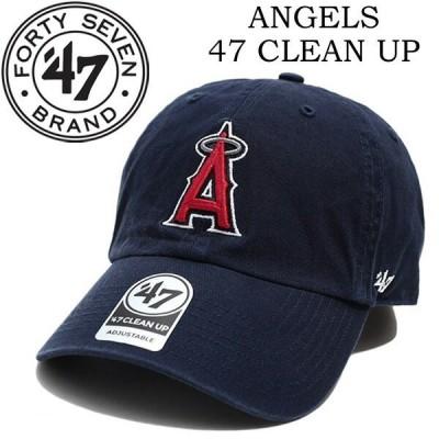 47BRAND フォーティーセブンブランド  ローキャップ 帽子 アジャスターバック Angels 47 CLEAN UP ネイビー B-RGW04GWS-NY