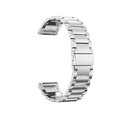 Maxku GARMIN ヴィヴォムーブ Vivomove HR / GARMIN vivoactive 3 バンドビジネス風 金属 ステンレス製 精密製作 高級腕時計
