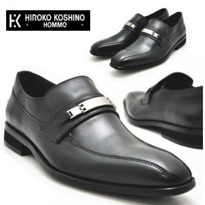 (クールビズ)本革ビジネスシューズ//ヒロココシノ 《HIROKO KOSHINO HOMME》 ローファー/ビット No130