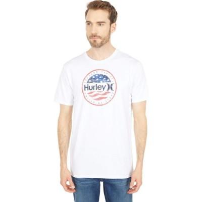ハーレー Hurley メンズ Tシャツ トップス Premium One & Only Americana Push Short Sleeve Tee White
