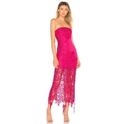 ラヴァーズフレンズ Lovers + Friends レディース パーティードレス ワンピース・ドレス Franz Gown Fuchsia