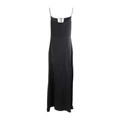 TOTON COMELLA - TCN ロングワンピース&ドレス ブラック S シルク 92% / ポリウレタン 8% ロングワンピース&ドレス