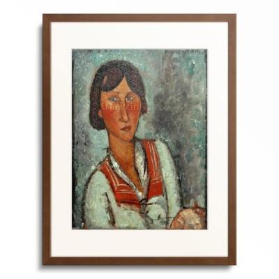 アメデオ・モディリアーニ Amedeo Clemente Modigliani 「Half-length portrait of a young woman wearing a sailor collar」