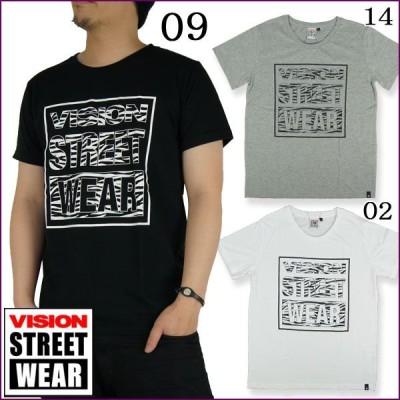 VISION STREET WEAR ヴィジョンストリートウェア ゼブラロゴTシャツ/メンズ:杢グレー