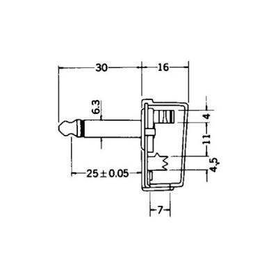 2極大形単頭プラグ Φ6.3 マル信無線電機 MP-127L