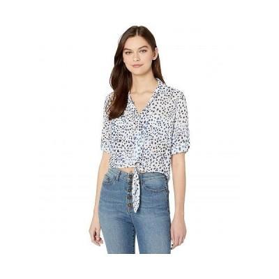 bella dahl レディース 女性用 ファッション ブラウス Tie Front Pocket Shirt - Ocean Blue
