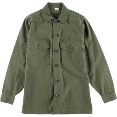 60s 米軍実品 ユーティリティシャツ USA製 メンズS /eaa023903