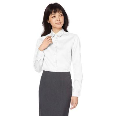 ナラ カミーチェ コットンシャンブレーベーシックカラー長袖シャツ 10-92-01-101 レディース ホワイト 日本 S (日本サイズ7