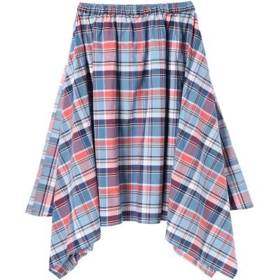 Hunch マドラスチェックイレヘムスカート