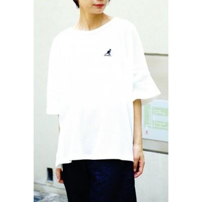 カンゴール Tシャツ(KANGOL)六分袖ワッフルTシャツ