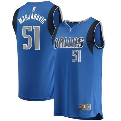 ファナティクス ブランデッド メンズ Tシャツ トップス Boban Marjanovic Dallas Mavericks Fanatics Branded Fast Break Replica Jersey
