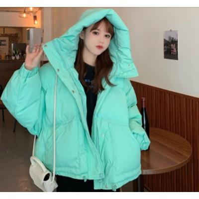 冬新作 冬コートレディース アウター ダウン ダウンジャケット ブルゾン フェイクダウン フード付き コート 上着 中綿 大人可愛い