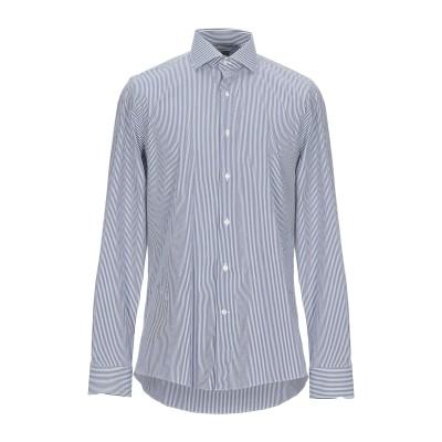ALEA シャツ ダークブルー 43 コットン 75% / ナイロン 22% / ポリウレタン 3% シャツ