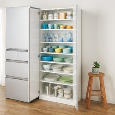 食器に合わせて選べる食器棚 幅75cm奥行42cm高さ180cm 777428