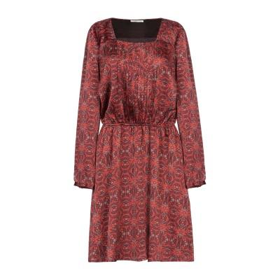 GAS ミニワンピース&ドレス レンガ L ポリエステル 100% ミニワンピース&ドレス