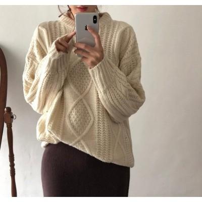 限定SALE価格 見逃し禁止  韓国ファッション 防寒 大きいサイズ 暖かい 怠惰な風 セーター