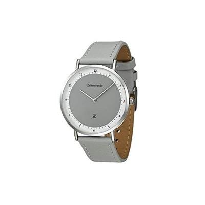 Zeitenwende Men's Analog Quartz Watch   Adjustable Gray 2-Layer Italian Lea