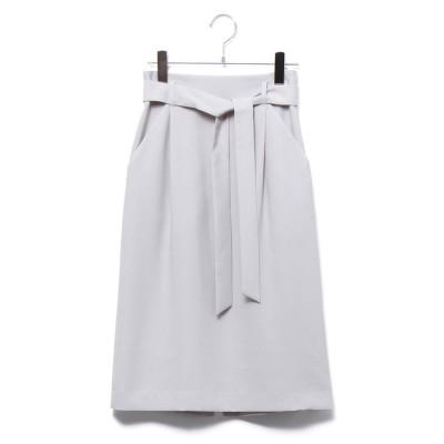 ROPE' ポリエステルツイルタックタイトスカート(ライトグレー(08))【返品不可商品】
