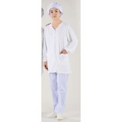 SHK4605 テクノファインコート 女子襟無し長袖白衣 NR-448 3L :_