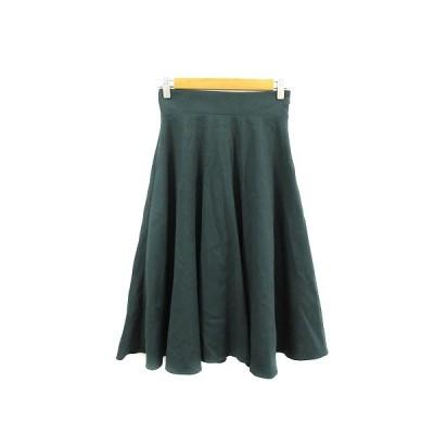 【中古】N.Natural Beauty Basic N.ナチュラルビューティーベーシック スカート フレア ミモレ ロング M 緑 グリーン /AAM39 レディース 【ベクトル 古着】